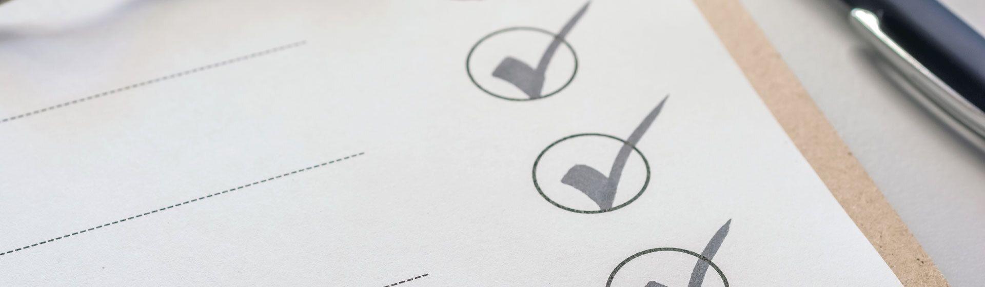 Checkliste für die Scheidung