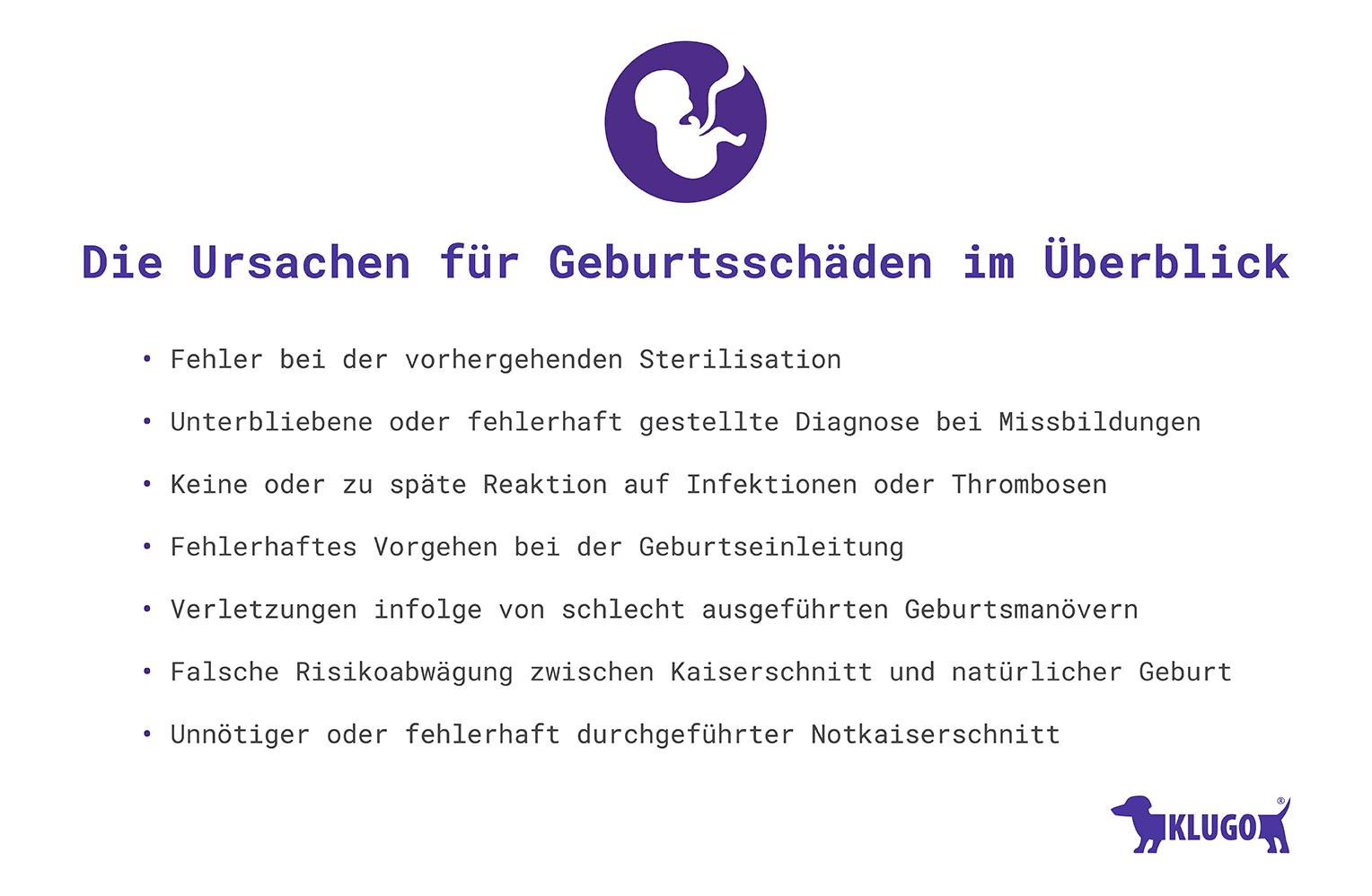 Ursachen für Geburtsschäden – Infografik