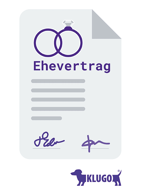 Ehevertrag – Infografik